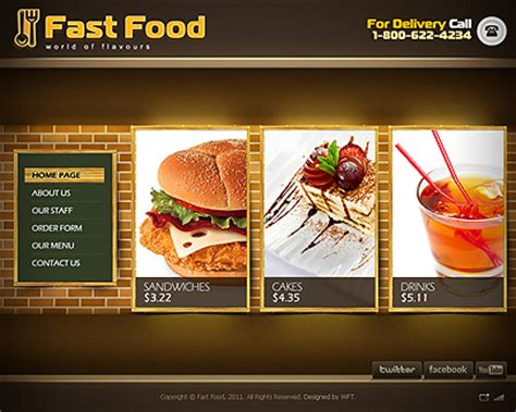fast food powerpoint template get fast food website template for free 05 13 05 19 16