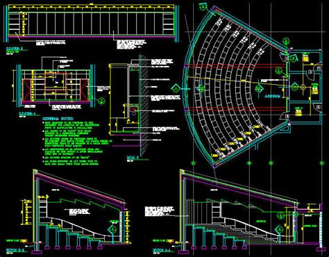 Small Restaurant Floor Plan by Cad Drawing Auditorium Layout