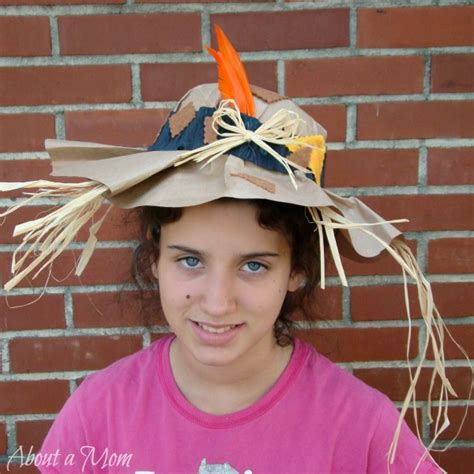 How To Make A Paper Bag Hat - paper bag scarecrow hat about a