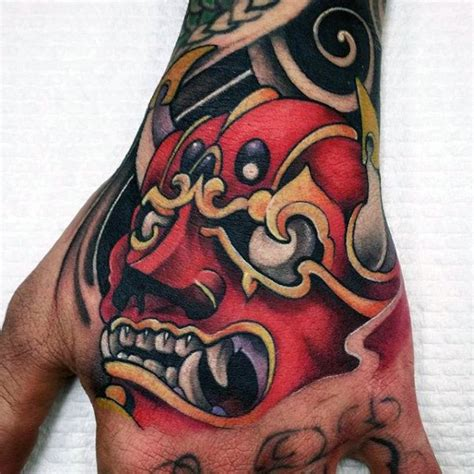 red handed tattoo hannya mask www pixshark images