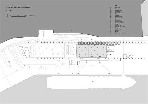sydney airport floor plan sydney cruise terminal johnson pilton walker architects