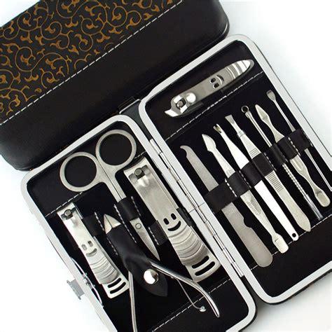 Manicure Set 12 Tools nails clipper scissors tweezer knife manicure sets nail manicure tools set 12 in 1 sale
