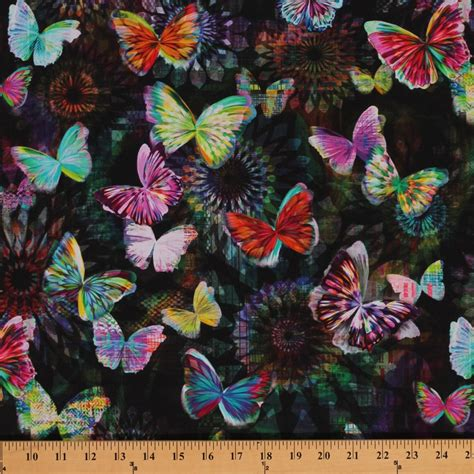 printable fabric reviews cotton crystalia main print onyx butterfly butterflies