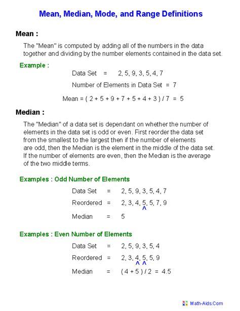 printable worksheets mean median mode range mean mode median worksheets mean mode median and range