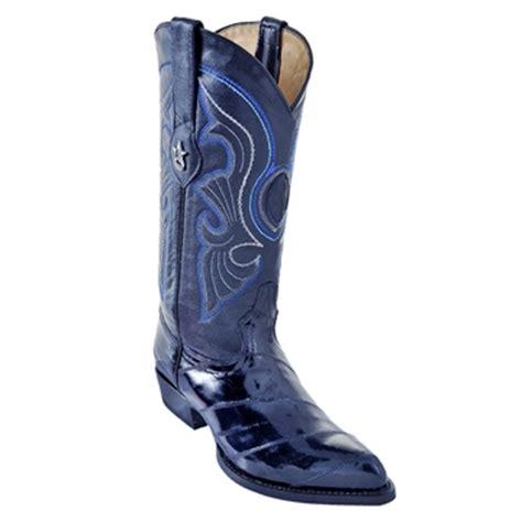 los altos navy blue eel cowboy boots los altos j toe boots