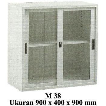 Lemari Arsip Sliding Kaca jual lemari arsip pendek pintu sliding kaca modera type m