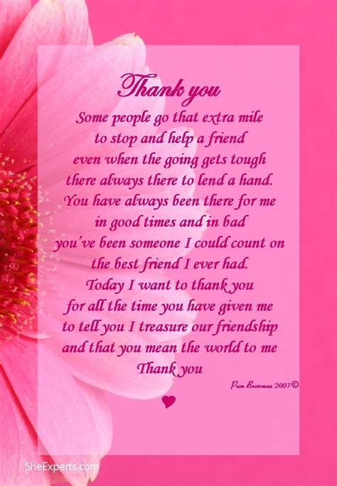 thank you letter to christian friend 25 best ideas about thank you poems on i