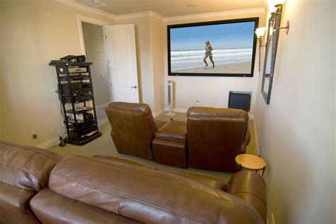 Home Theater Room Wall Design by Home Theater Room Design Ideas Big Screen On The