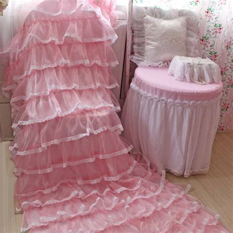 pink ruffled curtains lace ruffled curtain