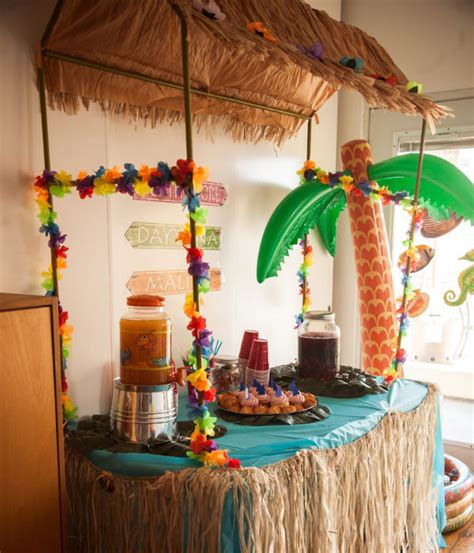 table top tiki bar hut aloha to summer staff party
