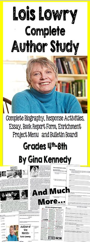 biography book discussion questions lois lowry author study biography reading response
