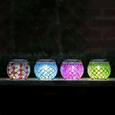 solar table lights mosaic table green solar light buy at qd stores