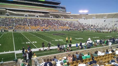notre dame stadium visitor section notre dame stadium section 11 rateyourseats com