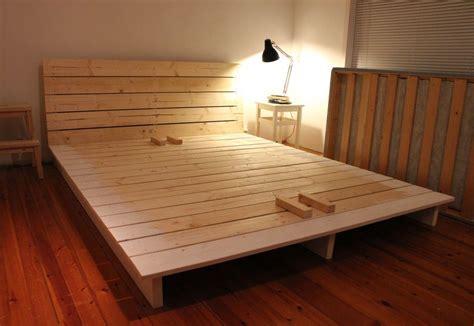 platform bed frame queen size margaret