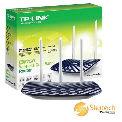 Tp Link Archer C20 Ac750 Wireless Dual Band Router New tp link ac750 wireless dual band router stp archer c20