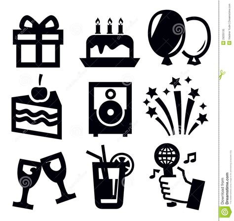 Happy New Year Cake Decoration by Birthday Icon Stock Vector Image Of Dessert Music