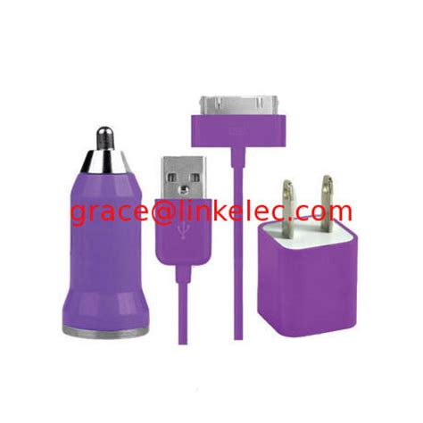 Vztec Dvi Cable For Apple Iphone4 Ipod Touch 25cm Model Vz Ip1303 usb ac wall charger and car charger data cable for apple ipod touch iphone4 4s 4g purple