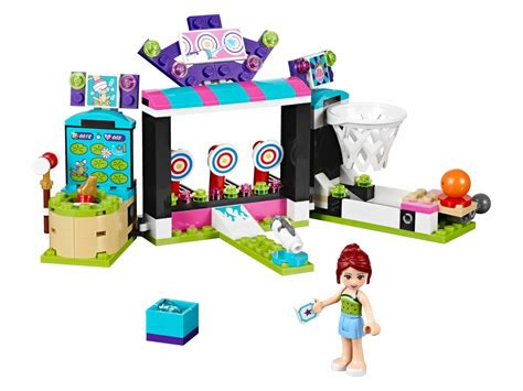 Lego Friends Park www onetwobrick net set database lego 41127 amusement park arcade