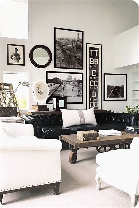 industrial chic living room monochrome interior decor pinspiration my warehouse home