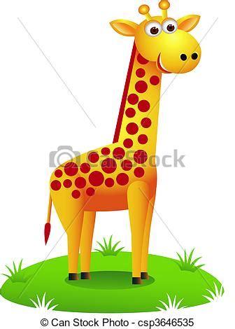 imagenes de jirafas bebes en caricatura clipart vectorial de jirafa caricatura vector