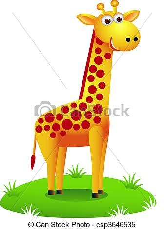 imagenes de jirafas caricaturas clipart vectorial de jirafa caricatura vector