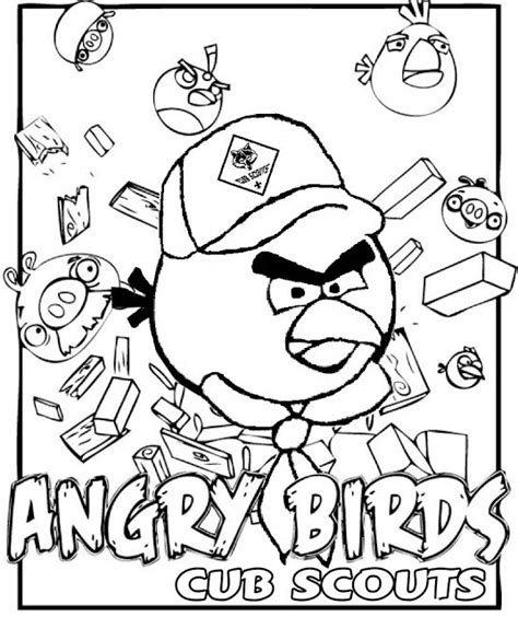 Akela S Council Cub Scout Leader Training Angry Birds Scout Coloring Sheet Printable