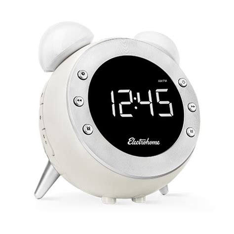 wake up light with battery backup electrohome retro alarm clock radio with motion activated