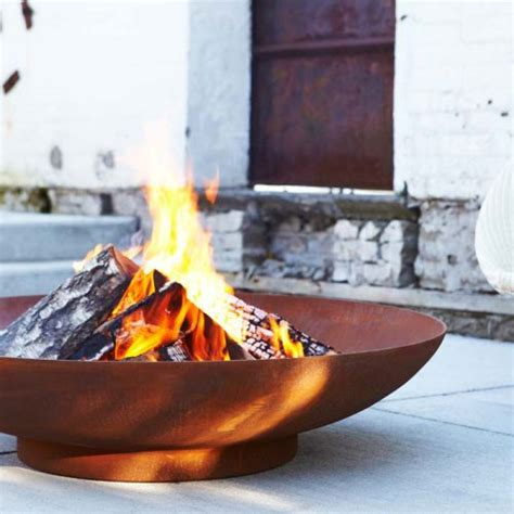 corten bowl bol modern pit uk and europe