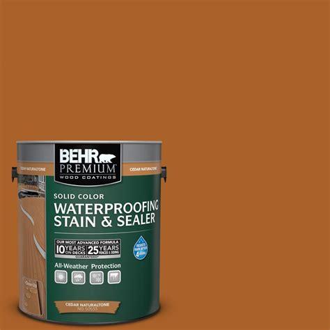 behr premium  gal sc  cedar naturaltone solid color