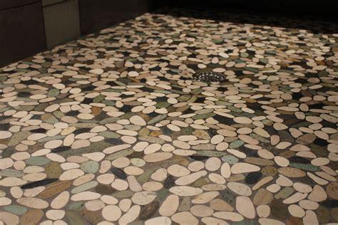 Tiles: Enticing Pebble Tile Shower Floor For Bathroom