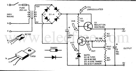 transistor power supply tv circuit electronics regulated power supply by transistor tip31