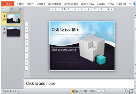 Free Animated 3d Cube Template For Powerpoint Microsoft Powerpoint Animated Templates