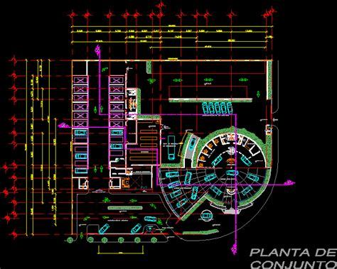 car dealership showroom shop parts nissan dwg plan