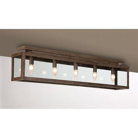 kitchen light fitting long low ceiling light fitting rusty metal finish ideal