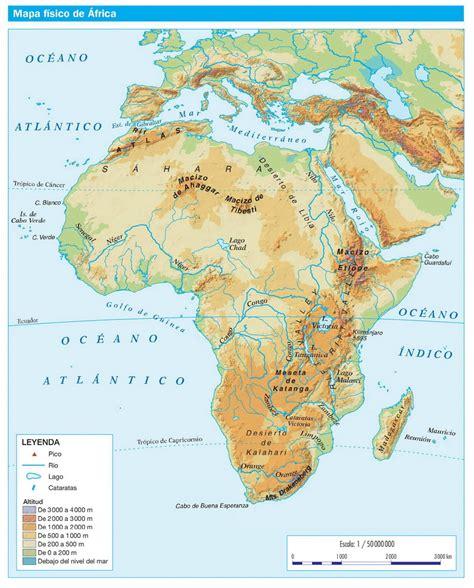 espana y africa mapa 193 frica f 205 sica geograf 205 a recursos