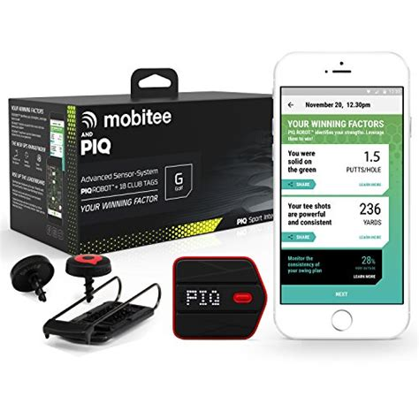 golf swing tracking system mobitee piq wearable golf sport tracker golf course