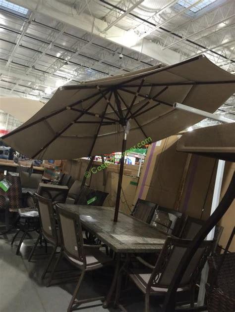 costco patio umbrellas proshade 11 market umbrella with hardwood pole costcochaser
