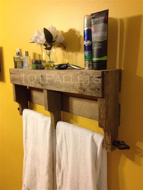 wood bathroom towel racks pallet towel rack for bathroom 101 pallets