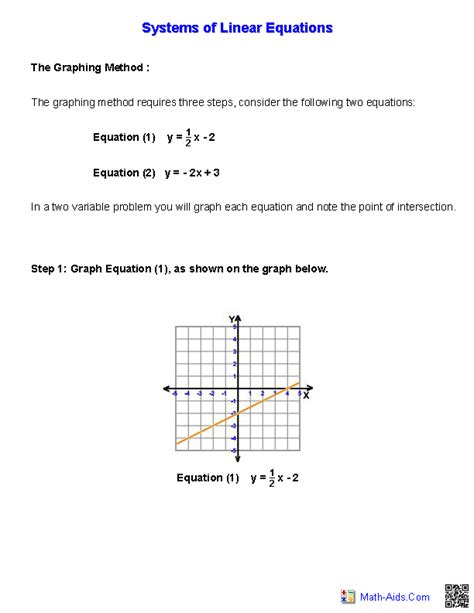 System Of Equations Worksheets by Algebra 1 Worksheets Systems Of Equations And