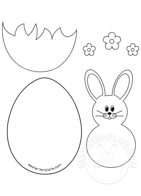 easter card template easter bunny and egg template easter template
