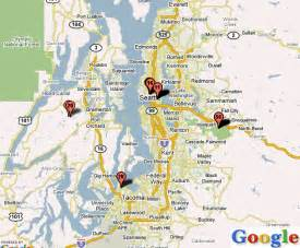 Seattle Tacoma Map by Seattle Area Map