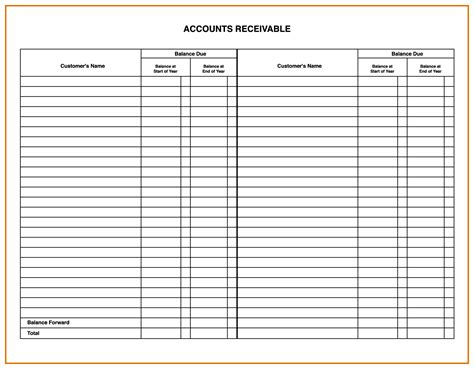 accounting ledger template accounting ledgers templates masir