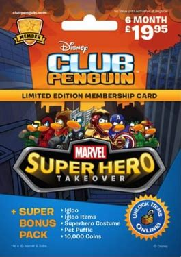 Club Penguin Heroes Unite Impor Preloved club penguin new memberships puffle tree fort igloo