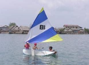 roeiboot voor zeilboot banana boot banana boot vouwboot zeilboot roeiboot
