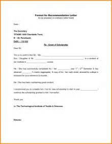 proper reference letter format