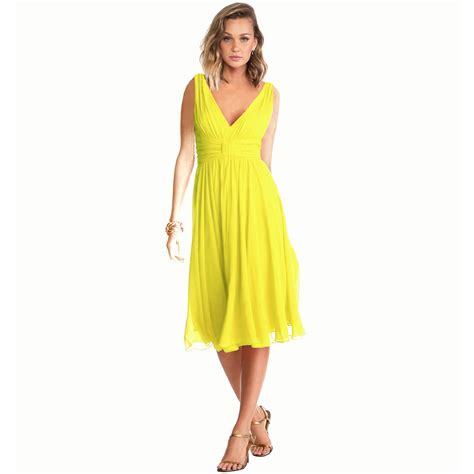 yellow chiffon cocktail dress new exquisite v neck cocktail evening party chiffon day
