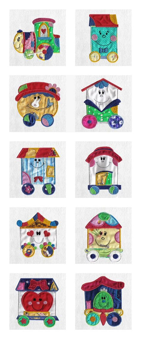 Patchwork Applique Designs - machine embroidery designs applique patchwork set