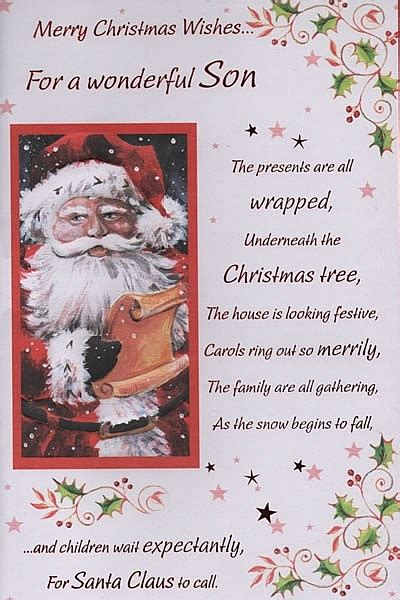male relation christmas cards merry christmas wishesfor  wonderful son