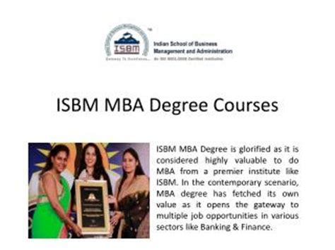 How To Get Mba Degree Fast by Isbm Mumbai Presentations Channel
