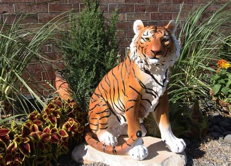 Tigers Garden by Backorder 20 Quot Bengal Tiger Raja Sitting On Guard Decorative Garden Statue Ebay